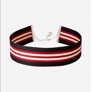 Express Sporty Striped Choker Necklace 2 for $20